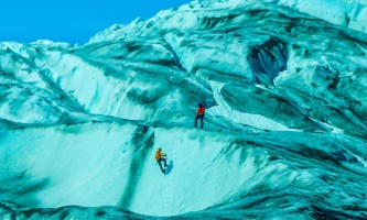 Exit glacier guides ice climbing