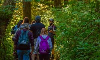 Rainforest sanctuary totem park eagles ARS Trail Guide guests