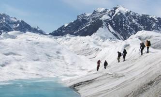 St elias alpine guides Hiking on an Alaskan Glacier