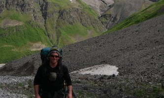 St elias alpine guides Hiking Old Glacial River Bed