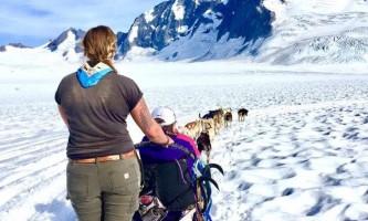 Alaska temsco mendenhall dog sledding Musher and Dog Team TEMSCO Mendenhall Dog Sledding