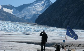 Alaska temsco skagway glacier discovery by helicopter tour Guide with AK Flag TEMSCO Skagway Glacier Discovery by Helicopter Tour