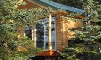 Kenai Fjords Glacier Lodge KFGL Private Cabin back porch view2019