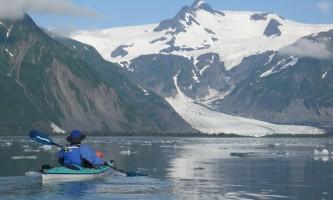Kenai Fjords Glacier Lodge 786 kayakin pedersen lagoon2019