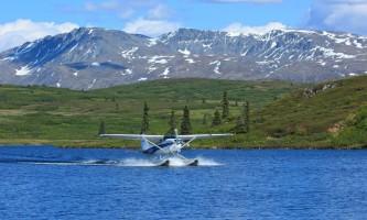Caribou lodgearriving from Talkeetna