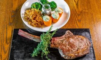Shalley Villamarin Alpenglow Tomhawk Steak with sides alaska grande denali
