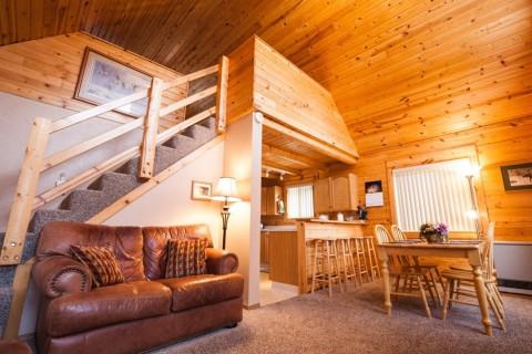 Loft of Grande Cabin at Hatcher Pass Cabins