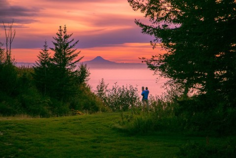 Situated high on a bluff, drink in the views of Kachemak Bay