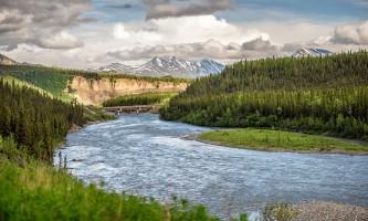 Property Nenana River from Denali Princess deck dpl 01 alaska denali princess wilderness lodge