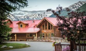 Exterior Main entrance at Kenai kpl 15 alaska kenai princess wilderness lodge