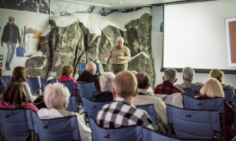 Entertainment Ranger talk in Hudson Theater at Mc Kinley 2 mpl 13 alaska denali princess wilderness lodge
