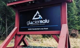 Glacier nalu campground resort New Nalu Sign