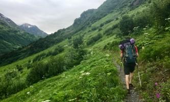 Image 1 Climbing Towards Berry Pass