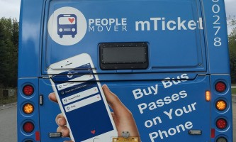 People moverm Ticket bus back