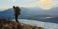 Alaska trip ideas mccarthy Hiker by Root Glacier Alaska 2020