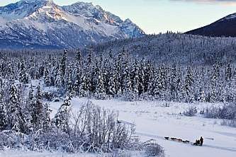 Alaska in march eagle river chugach mountains dog mushers ed boudreau Ed Boudreau