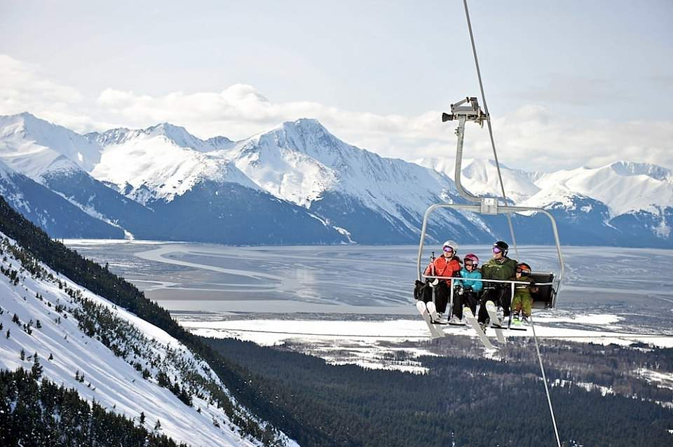 Girdwood is a great place to ride the slopes at Alyeska Resort