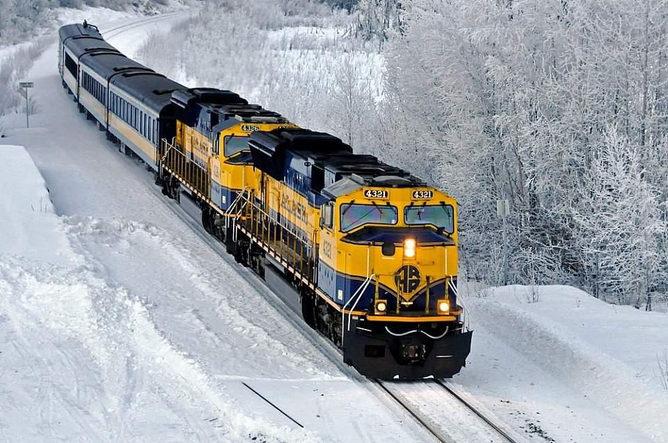 Alaska Railroad in Winter