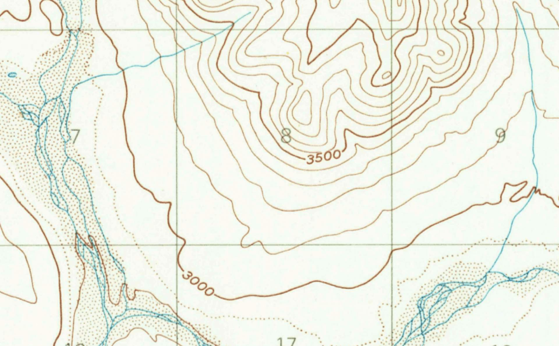 AC Image Backcountry Navigation Topo with zoomed in topo lines