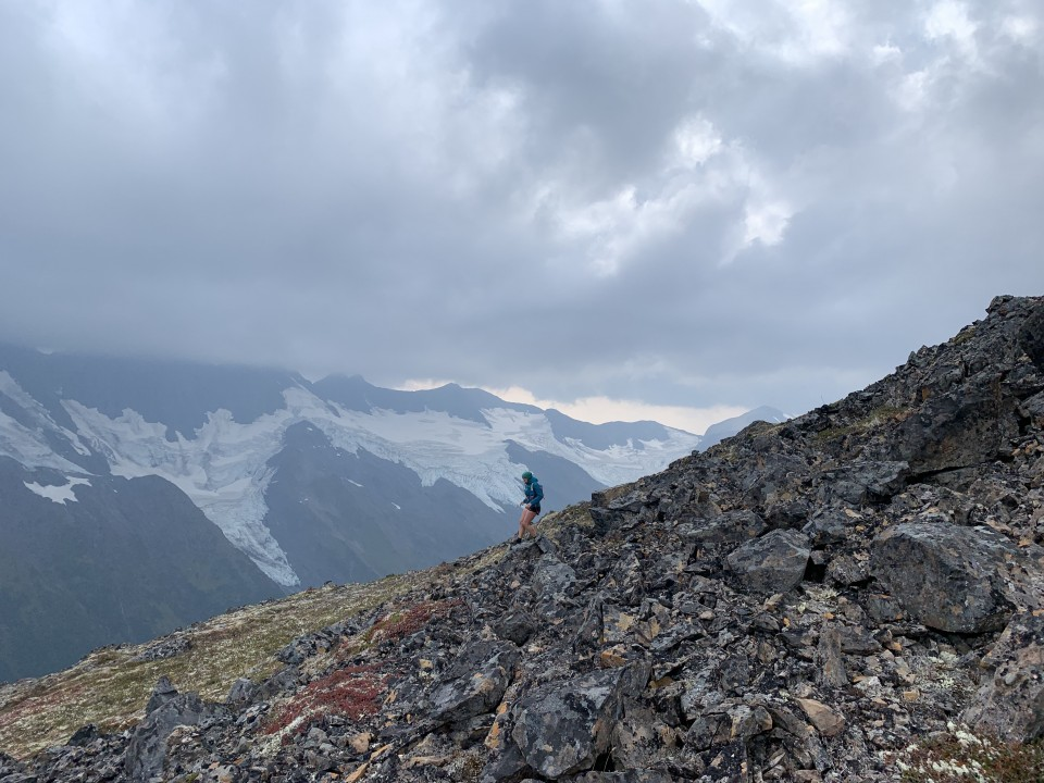 Haley Johnston AC Image Tips for AK Backpacking Scree Talus