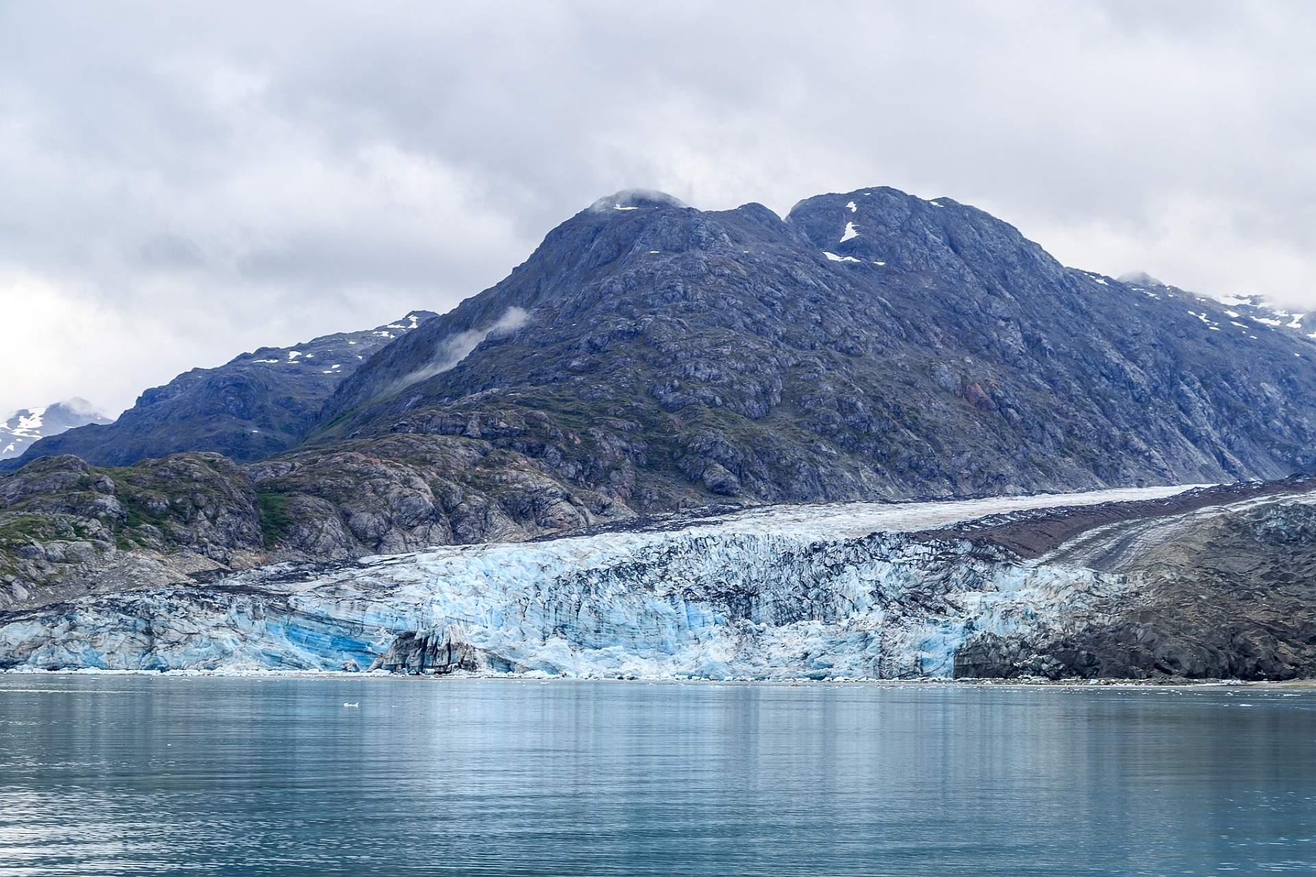 View of a tidewater glacier in Glacier Bay National Park