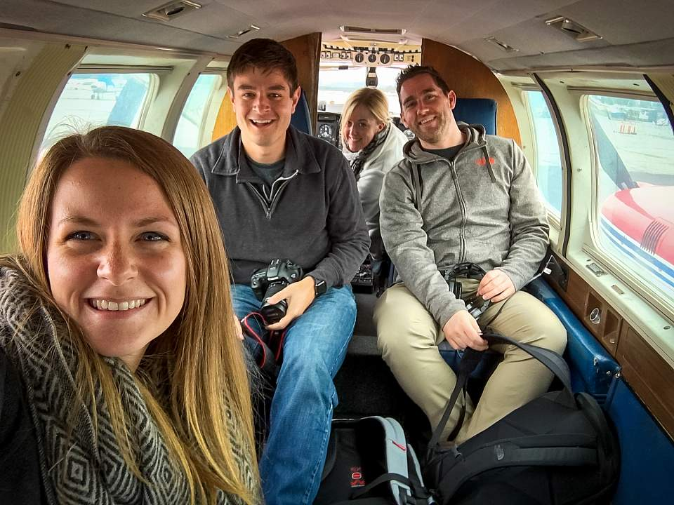 Alexyn and friends in an Air Taxi