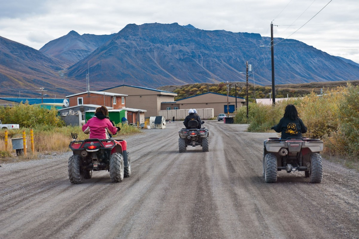 ATVS in Anaktuvuk Pass, the main mode of transportation