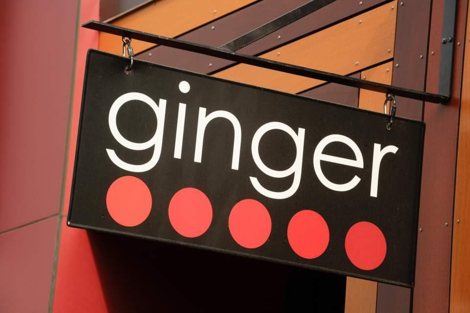 Outside sign for Ginger
