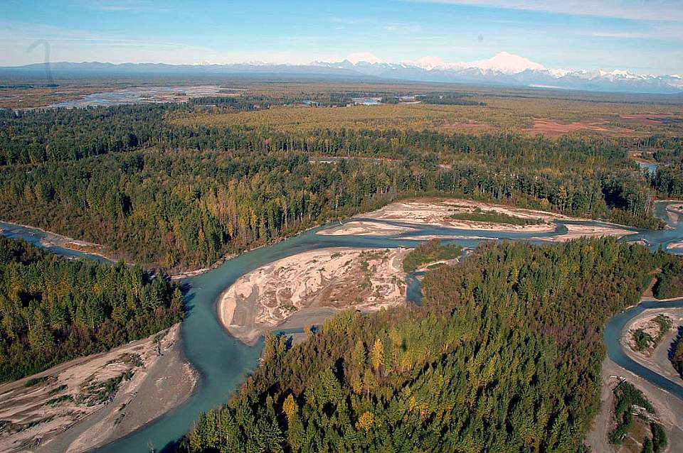 Susitna River Valley Braided Channels