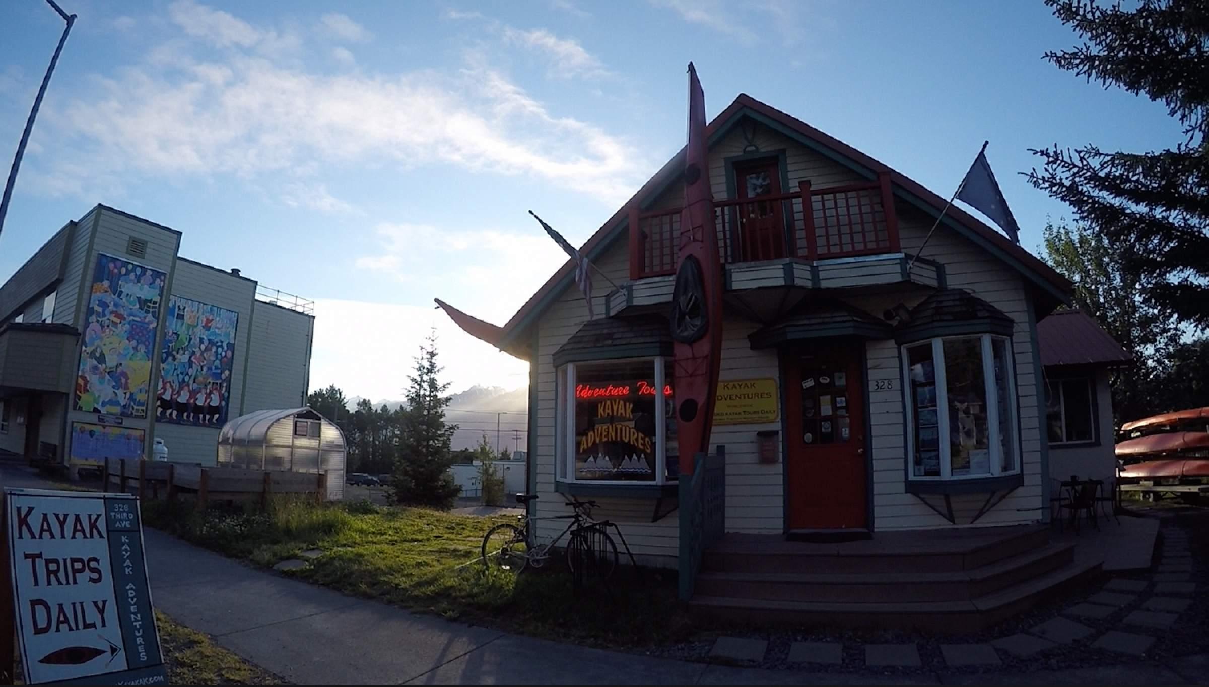 Sunrise of Kayak Adventures Worldwide shop