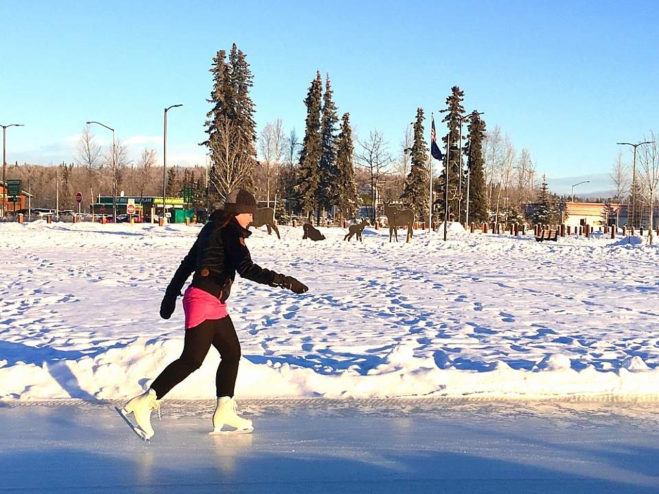 Soldotna Creek Park's Ice Skating Rink