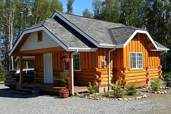 Alaska cabin vacation rentals cabin 6 front view