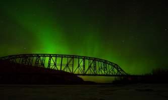 Alaska railroad advice nenana railroad bridge northern lights adam dille Adam Dille