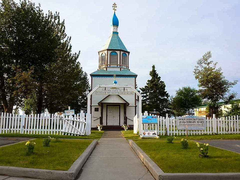 The Holy Assumption Orthodox Church is the oldest standing Orthodox Church in Alaska