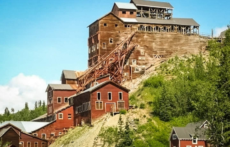 The historic, red Kennicott Mine