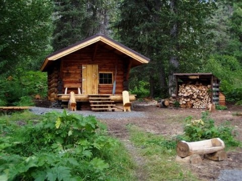 A public use cabin in the Chugach National Forest