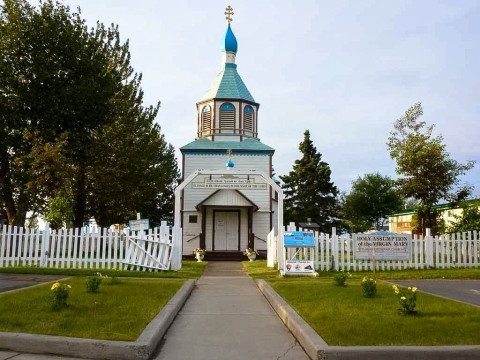 The Holy Assumption Orthodox Church is the oldest standing Orthodox Church in Alaska.