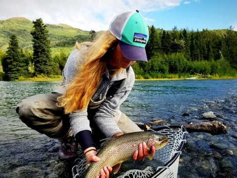 Get your hands on a fresh catch of your own while enjoying a stay at the Great Alaska Adventure Lodge