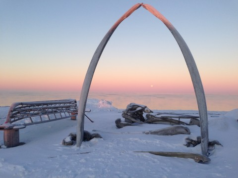 The whale bone arch is a symbol of the close connection the Inupiat people have with whaling and the sea
