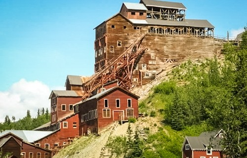 The historic, red Kennicott Mine