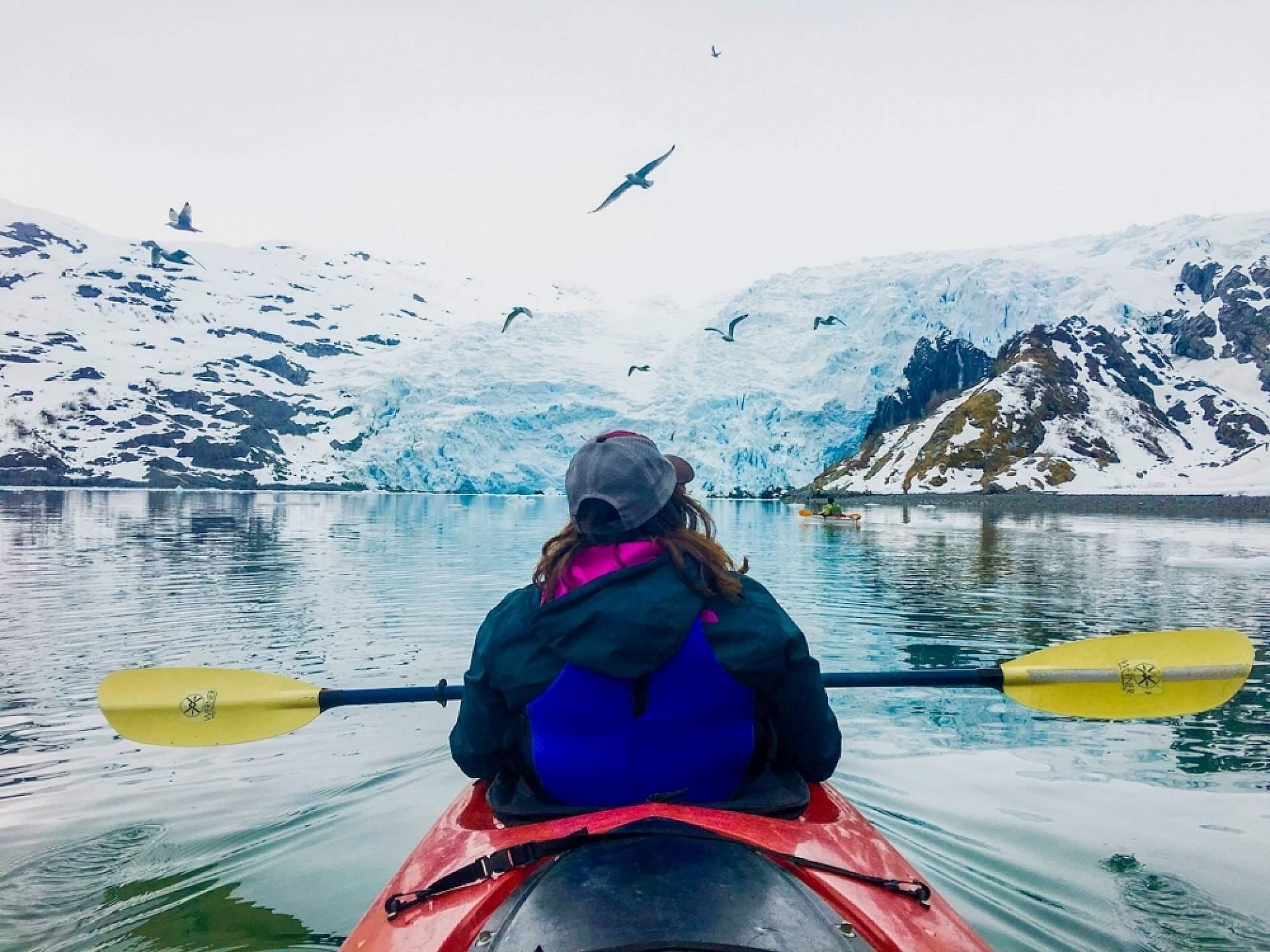 Blackstone Glacier Kayak alaska anna dave dickason whittier