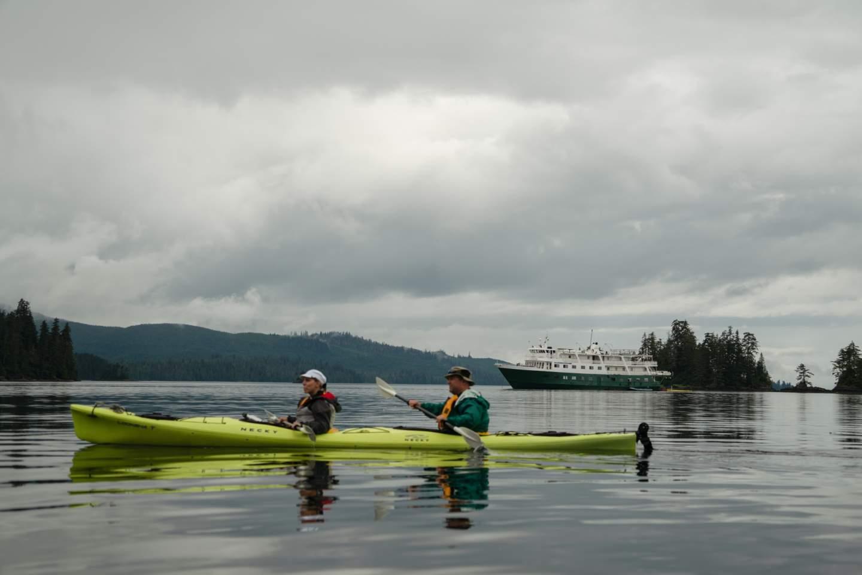 Liz Galloway Dan Blanchard Kayaking the Blashke Islands
