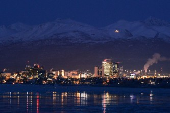 Anchorage winter skyline anchorage at night skyline volker hruby Volker J Hruby