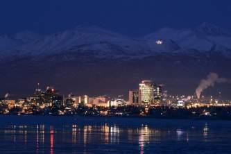 Anchorage winter skyline anchorage at night skyline volker hruby Volker J Hruby