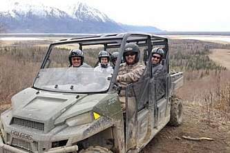 Chugach state park jeep atv tours full wheeler on overlook