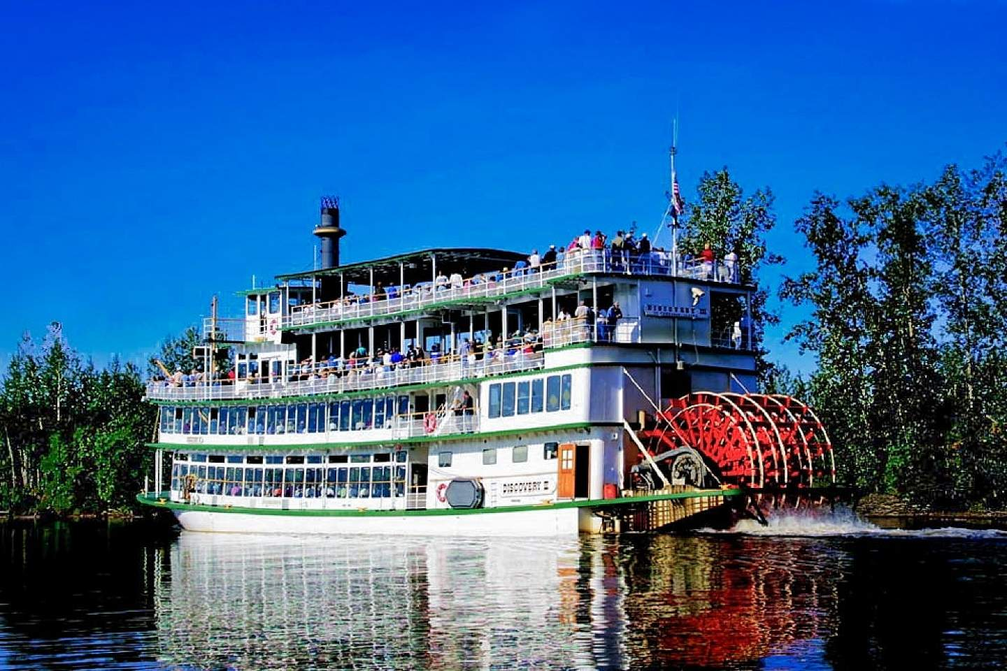 Climb on board an authentic Alaskan sternwheeler and take a journey back in time