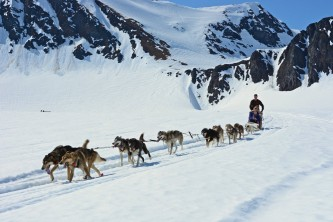 Girdwood glacier dog sledding Alaska Channel