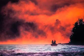 Kenai peninsula fishing lodges Surise driftboat Alaska Channel
