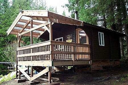 Ketchikan public use cabins Mc Donald Lake Cabin 1