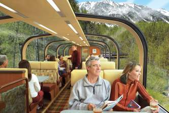 Anchorage to Talkeetna Princess Rail Guests in Dome with beverages o164ah